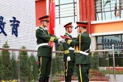 文明每个举动, 营造优美校园——太原万通升国旗仪式
